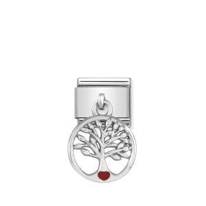 Composable Classic CHARMS steel, 925 silver and enamel (07_Tree life)
