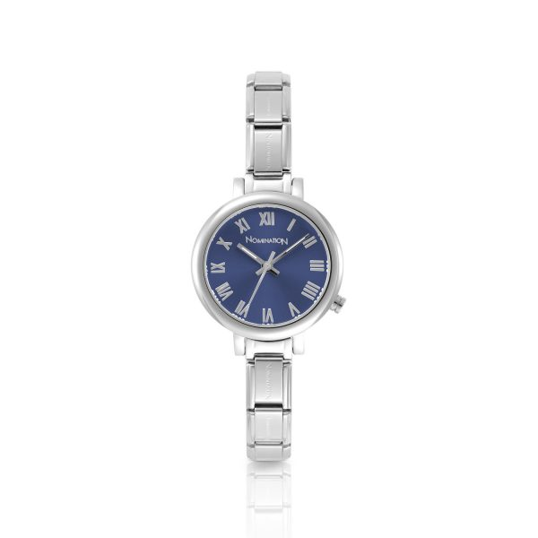 PARIS small watch with stainless steel band and quadrant (005_Blue)