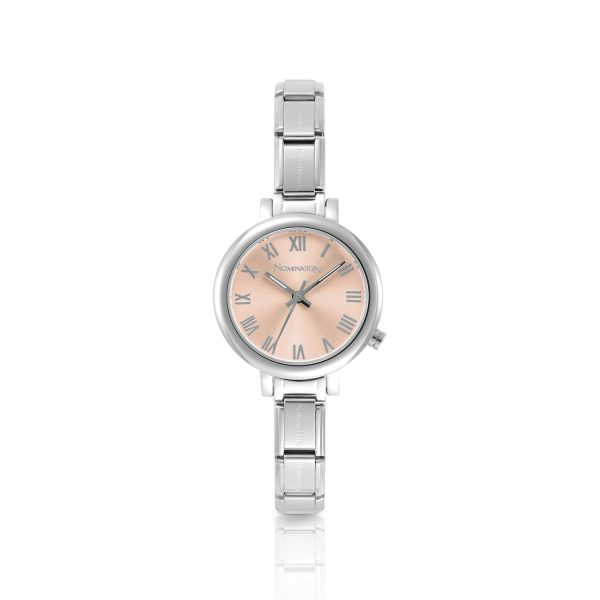 PARIS small watch with stainless steel band and quadrant (014_Pink)