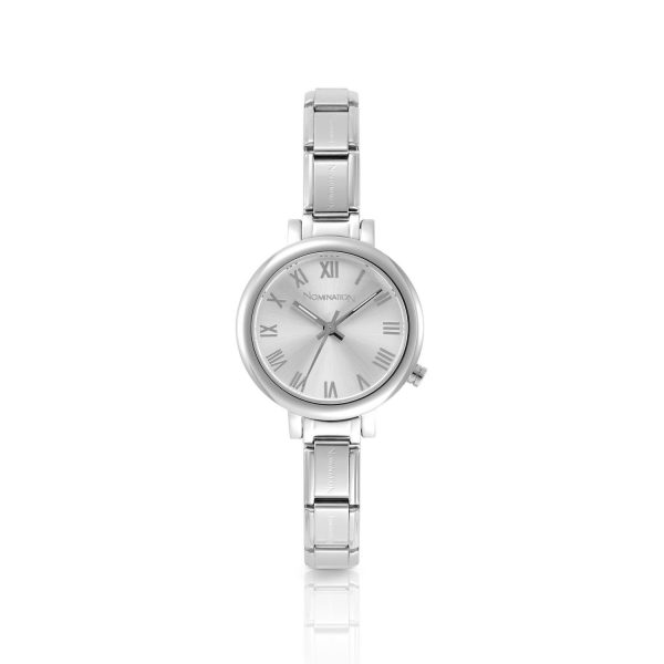 PARIS small watch with stainless steel band and quadrant (017_Silver)