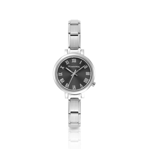 PARIS small watch with stainless steel band and quadrant (018_Gun)