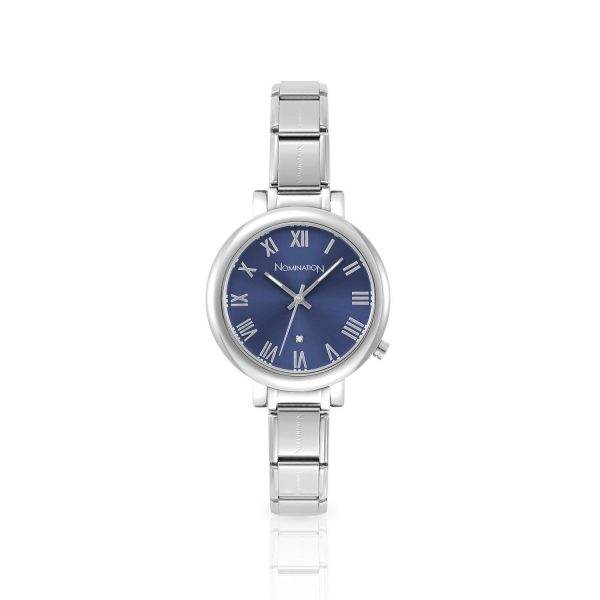 PARIS big watch  with stainless steel band and quadrant (005_Blue)