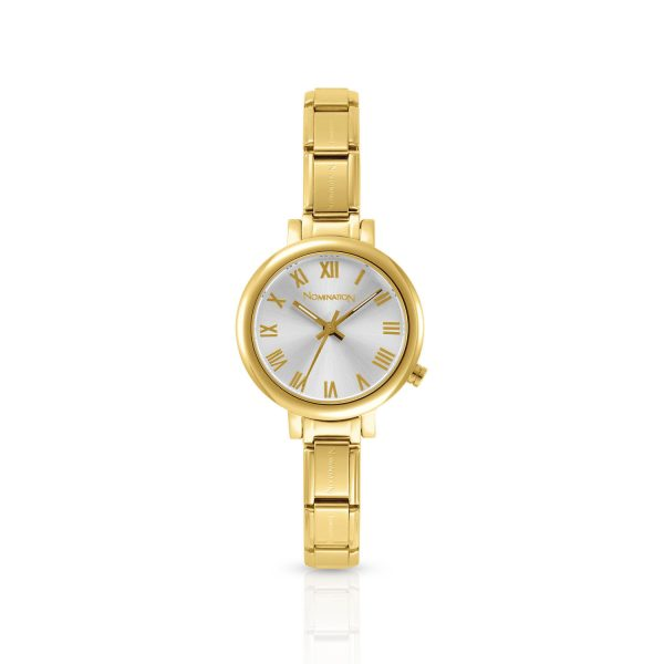 Paris watch with Classic Comp in gold stainless steel (017_Silver)