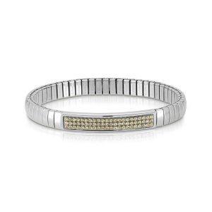 XTE steel and Swarovski bracelets (024_CHAMPAGNE)