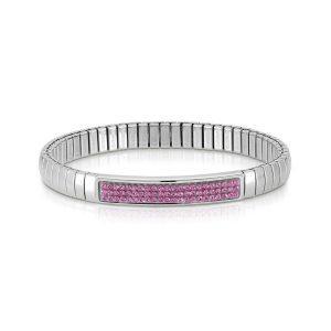 XTE steel and Swarovski bracelets (030_FUCHSIA)
