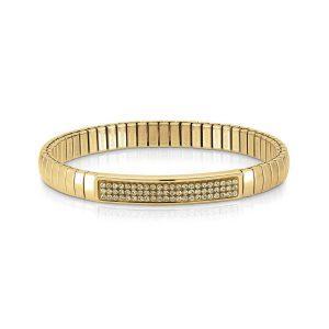 Steel XTE bracelets and Swarovski Fin, YELLOW GOLD (024_CHAMPAGNE)