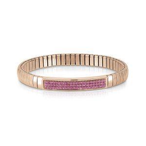 Steel XTE bracelets and Swarovski Fin, Rose GOLD (030_FUCHSIA)