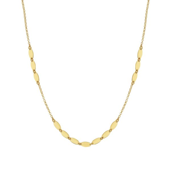 ARMONIE necklace in 925 silver (011_Yellow Gold Oval)