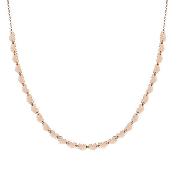 ARMONIE Necklace in 925 Silver Rich (002_Gold Pink Heart)