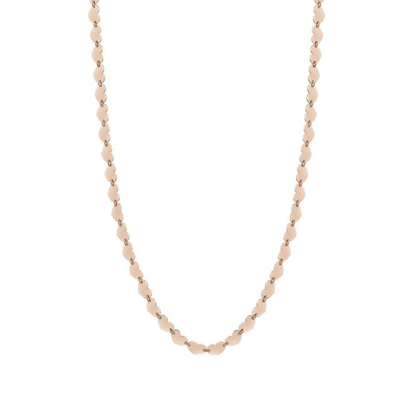 ARMONIE Silver Necklace 925 Long Rich (E) (002_Gold Pink Heart)