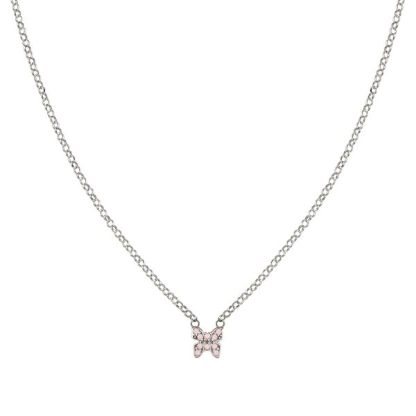 GIOIE 925 silver necklace and cubic zirconia colored (018_Silver Butterfly)