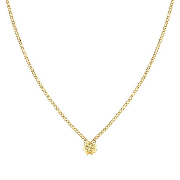 GIOIE 925 silver necklace and cubic zirconia colored (021_Sun Yellow Gold)