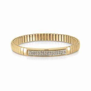 Steel XTE bracelets and Swarovski Fin, YELLOW GOLD (010_White)