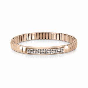 Steel XTE bracelets and Swarovski Fin, Rose GOLD (010_White)