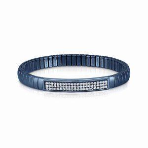 XTE Bracelets in steel and Swarovski Fin, BLUE (010_White)