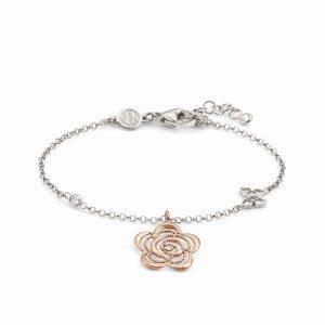 PRIMAVERA bracelet in 925 sterling silver and CZ RICH BI-TONE (024_Rose gold flower)