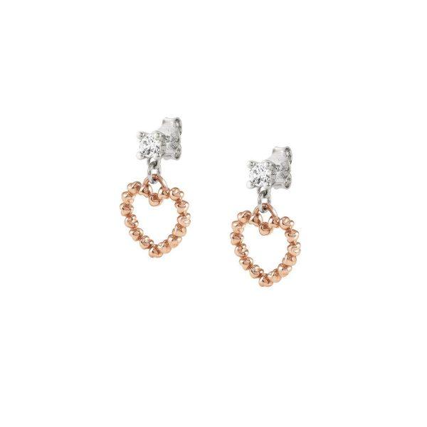 ROCK IN LOVE SILVER ed, earrings in 925 silver PENDING (011_Rose Gold)