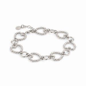 ROCK IN LOVE SILVER ed, bracelet in 925 silver HEARTS (E) (010_Silver)