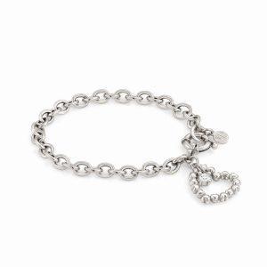 ROCK IN LOVE SILVER ed, bracelet in 925 silver and zircon (E) (010_Silver)