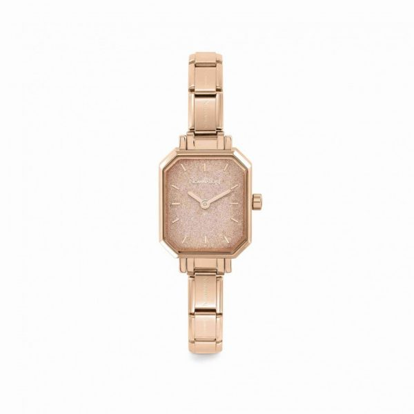 COMPOSABLE Classic Watch - with Pink Glitter Dial