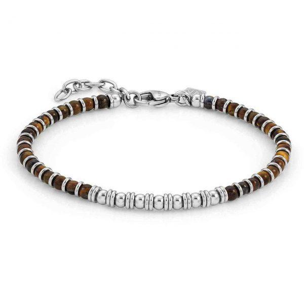 INSTINCT bracelet in steel and stones (041_TIGER EYE)