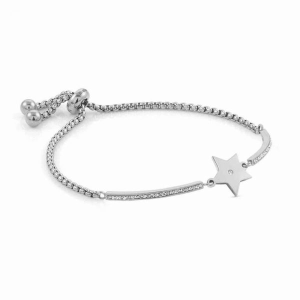 MILLELUCI bracelet in stainless steel and cubic zirconia (023_Star)