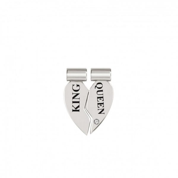 SeiMia SYMBOLS in sterling silver, cz DIVISIBLE (002_King and Queen)