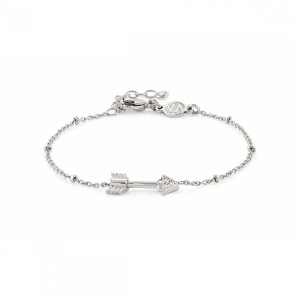 SEIMIA bracelet in sterling silver and cubic zirconia SHORT (008_Arrow)