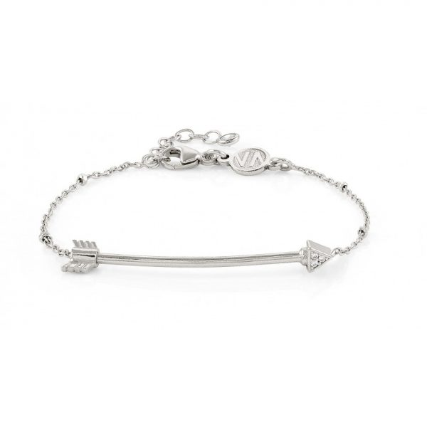 SEIMIA bracelet in sterling silver and cubic zirconia LONG (008_Arrow)