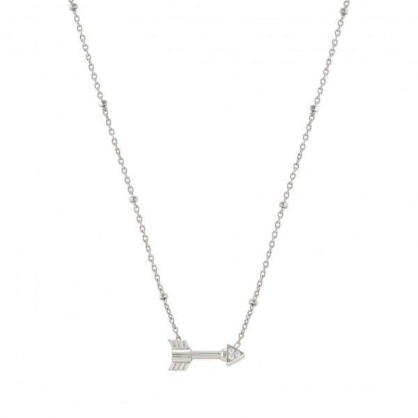 SEIMIA necklace in sterling silver and cubic zirconia SHORT (008_Arrow)