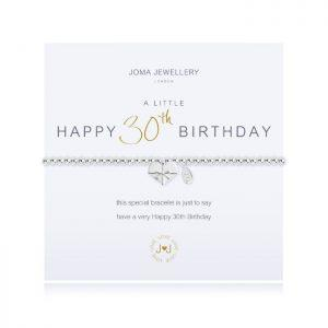 A little Happy 30th Birthday Bracelet