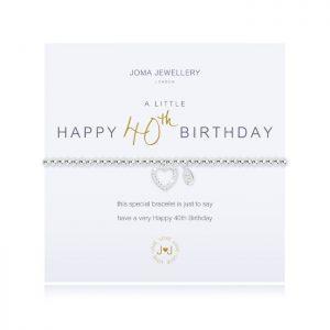 A little Happy 40th Birthday Bracelet