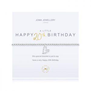 A little Happy 20th Birthday Bracelet