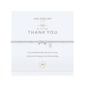 A little Thank you for being my bridesmaid bracelet