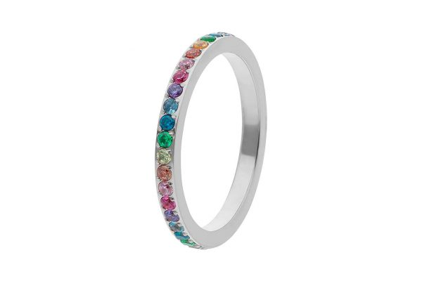 Spacer Ring Eternity Small Multi-Colour - Silver