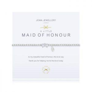 A little Thank you for being my Maid of Honour bracelet