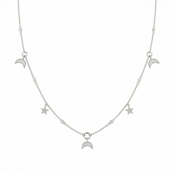 NIGHTDREAM NECKLACE WITH MOON AND STARS