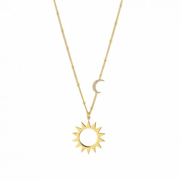 ANTIBES NECKLACE WITH MOON AND SUN