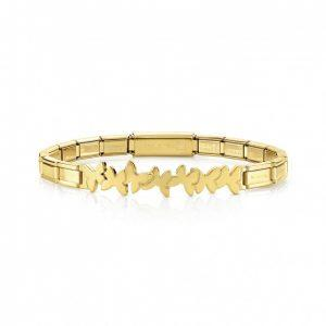 TRENDSETTER Bracelets  in stainless steel with wefts (003_Butterflies YELLOW GOLD)