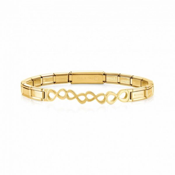 TRENDSETTER Bracelets  in stainless steel with wefts (009_Infinity Yellow gold finish)