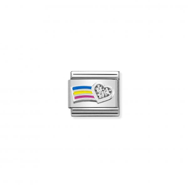 Celebrate Every Day- CZ Rainbow Heart