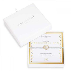 BEAUTIFULLY BOXED A LITTLES |WONDERFUL NAN | Silver | Bracelet | 17.5cm stretch
