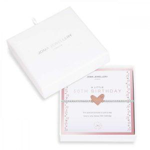 BEAUTIFULLY BOXED A LITTLES | 50TH BIRTHDAY | Silver | Bracelet |17.5cm stretch