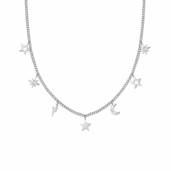 STARDUST Necklace in stainless steel with cz (050_Mixed)