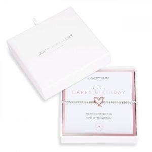 BEAUTIFULLY BOXED A LITTLES | HAPPY BIRTHDAY | Silver | Bracelet | 17.5cm stretch