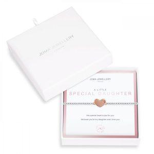 BEAUTIFULLY BOXED A LITTLES | SPECIAL DAUGHTER | Silver | Bracelet |17.5cm stretch