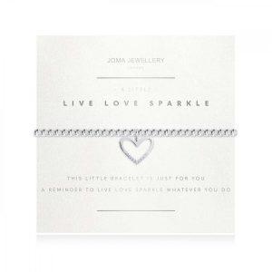 A LITTLE | LIVE LOVE SPARKLE | Silver | Bracelet (Faceted) | 17.5cm stretch