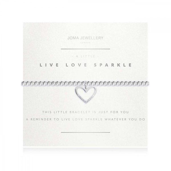 A LITTLE   LIVE LOVE SPARKLE   Silver   Bracelet (Faceted)   17.5cm stretch