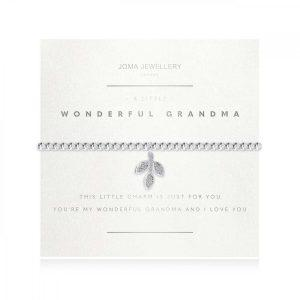 A LITTLE | WONDERFUL GRANDMA | Silver | Bracelet (Faceted) | 17.5cm stretch