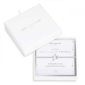BEAUTIFULLY BOXED A LITTLES | FABULOUS FRIEND | Silver | Bracelet | 17.5cm stretch
